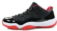 Nike Air Jordan XI Low Bred 11 Retro Black True Red 528895-012