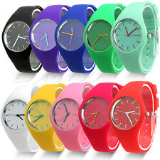 2015 Fashion Super Soft Geneva WomensGirl Jelly Silicone Sports Watch