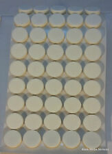 500  White Self Adhesive Sticky CD/DVD Foam Holders/Dots/Studs