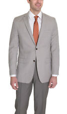 Alfani RED Slim Fit Light Tan Stepweave Two Button Wool Blend Blazer Sportcoat