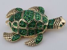 Turtle Trinket Box by Keren Kopal Faberge Egg Austrian Crystal