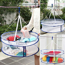 Double Layer Laundry Clothes Sweater Dryer Rack Hanger Hanging Mesh Basket