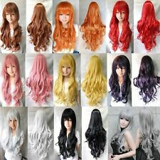 """New Fashion Womens Multicolor Wigs Long Curly Anime Cosplay Wig 80cm/32"""""""