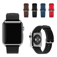 Classic Buckle Genuine Leather Watch Band Strap For Apple Watch 38mm/42mm