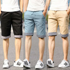 New Fashion Mens Slim Fit Casual Cotton Shorts Beach Trousers Summer Short Pants