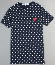 Polka COMME Des GARCONS CDG PLAY RED HEART MENS WOMENS SHORT SLEEVE T-SHIRT TEE
