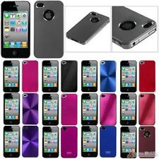 For APPLE iPhone 4/4S Slim Cosmo Back Case Cover brushed METAL