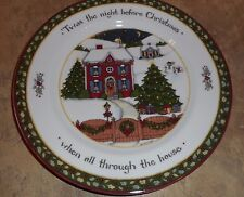 PORTMEIRION NIGHT BEFORE CHRISTMAS DINNER PLATES DISHES SUSAN WINGET