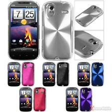 For HTC Amaze 4G Snap-on Slim Metal Back Cosmo Case Cover
