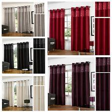 Glitz Eyelet/Ring Top Lined Curtain Pairs  3 Great Colours