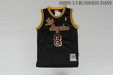 Kobe Bryant Los Angeles Lakers Black Hardwood Classics #8 Throwback Jersey