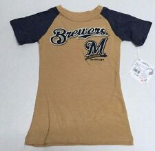Milwaukee Brewers Official Majestic Baseball MLB Merchandise Girls T-Shirt