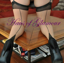 **NEW** XL/L/M/S Contrast Point Heel Raised Seam Vintage Stockings (All sizes!)