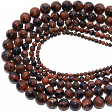 Natural Round Blue Goldstone Beads Loose Gemstone Beads for Jewelry Making 15""