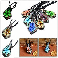 Wholesale Bulk Lots Murano Lampwork Glass Pendant  Flower Charms Jewellery gift