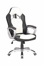 Executive Luxury Office Chair Sport Racing Gaming Computer Swivel/Tilt/Adjust
