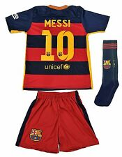 Barcelona #10 MESSI Home Kids Jersey and Shorts Youth Sizes - USA Seller!