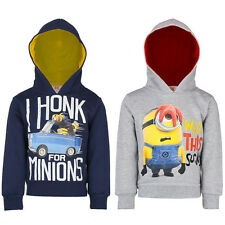 BOYS GIRLS MINIONS HOODIE TOP KIDS JUMPER CHILDREN CLOTHING IN 4 SIZES UK SELLER