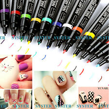 24 Colors Nail Art Pen Painting Design Tool Drawing for Polish Manicure #SB-078