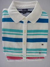 NWT Tommy Hilfiger Classic Fit Striped Polo Shirt For Women XS, S, M, L