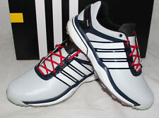 Adidas Golf AdiPower Boost Mens Golf Shoes -  Clear Gray White Collegiate Navy