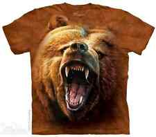THE MOUNTAIN GRIZZLY GROWL BEAR ROAR FURIOUS ANGRY BIG FACE T TEE SHIRT S-5XL