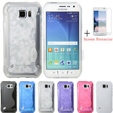 For Samsung Galaxy S6 Active G890 Slim GEL TPU Rubber Soft Case Cover Skin+Film