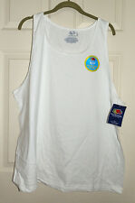 New White Tank Top 2XL 50-52 Cotton Fruit of the Loom Mens