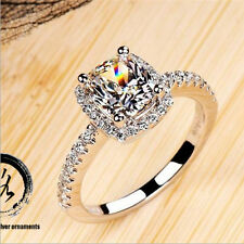 925 Sterling Silver Rings Diamond for Women Wedding Engagement Beautiful Jewelry