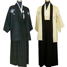 Men's Yukata Japanese Haori Kimono Robe Cosplay Costume Kostüm Fancy Dress Kleid