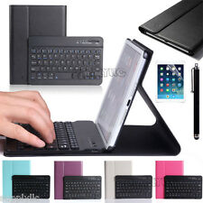 Luxury Slim Leather Case Cover Stand Wireless Bluetooth Keyboard For iPad & Film
