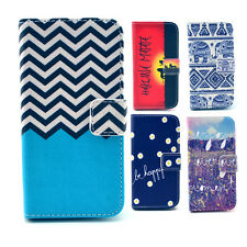 For Samsung Galaxy Phones Flip Wallet Card Slot Patterned PU Leather Case Cover