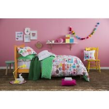 KAS Kids Tea Party Time Single Double Quilt Duvet Cover & Embroid Cushion Set
