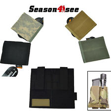 1x Tactical Molle QD Double Pistol Magazine Flashlight Pouch Hoster Stretchy Bag