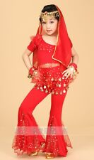 Childrens Kids Girls Indian Dance Belly Dance Costume Outfit Bollywood Halloween
