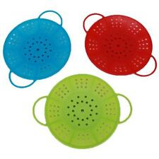 Silicone Steaming Steam Food Steamer Microwave Oven Drain Rack Cooking Tool 8C