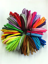 Hot 50PCS/set Thick Endless Snag Women's Hair Elastics Bobbles Bands Ponios