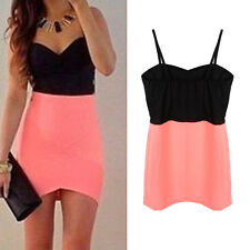Sexy Women Summer Sleeveless Evening Party Cocktail Casual Mini Pencil Dress