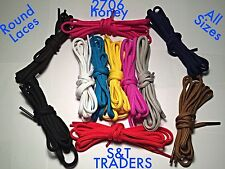 5mm WIDE  OVAL/ ROUND SHOE LACES  MANY COLOURS SHOE TRAINER BOOT LACES 6 LENGHTS