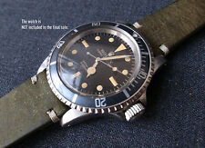 HANDCRAFTED STRAP OLIVE GREEN ROLEX GMT SUBMARINER 5513 1016 1675  20MM 19MM
