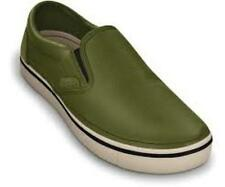 Crocs Men's Hover Leather Slip-On ~ Army Green/Stucco