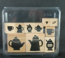 CTMH/DOTS rubber stamp set, TIME FOR TEA