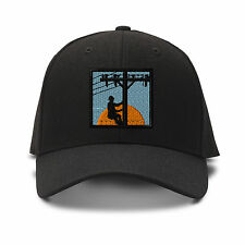 Line Man Embroidery Embroidered Adjustable Hat Baseball Cap
