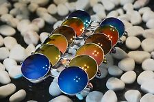 Unisex Women Men Mirror lens Round Glasses Steampunk Sunglasses Vintage Retro
