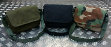 Military Style Mini Canvas Shoulder Bag Small Effects Assorted Colours- NEW