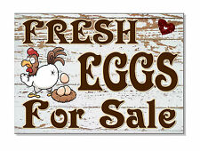 FRESH EGGS FOR SALE Sign Plaque OUTDOOR selling eggs chicken hen gate garden