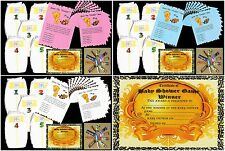 Baby shower games dirty nappies for baby girl boy neutral with 10 player sheets