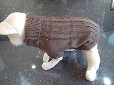 Sphynx Cat clothing - Brown cable jumpers for cats sizes Kitten, Small & Medium