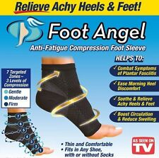 Foot Angel SEEN ON TV - Compression Sleeve Circulation Ankle Small Large XL USA