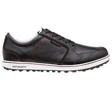 NEW MEN'S ASHWORTH CARDIFF ADC GOLF SHOES BLACK/BURG G54280 - PICK YOUR SIZE
